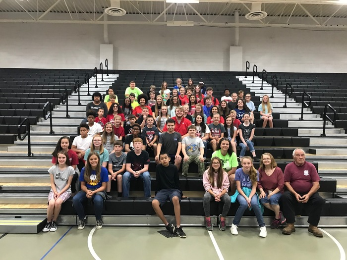The 6th grade MHS tour! Future MHS 7th graders!