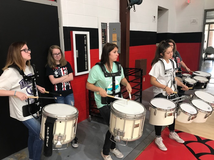 MHS Drum Line at the 6th grade MHS Tour