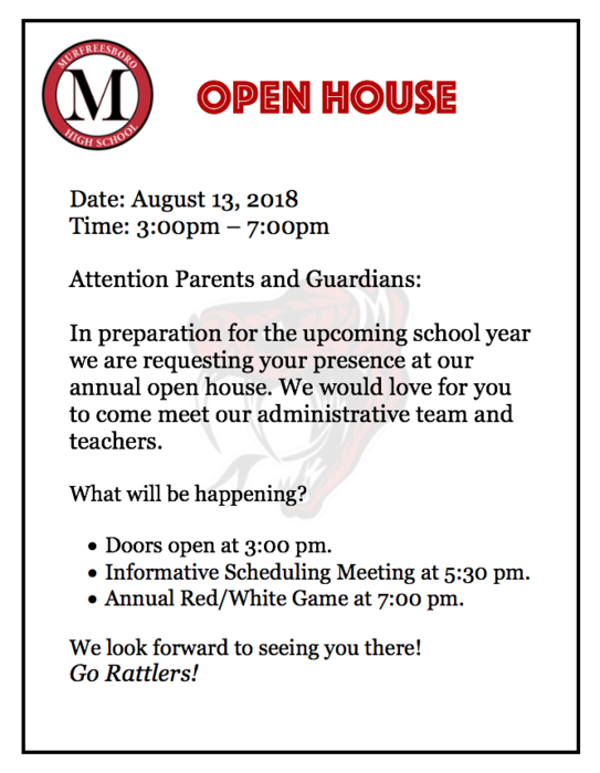 Open House Flyer 2018