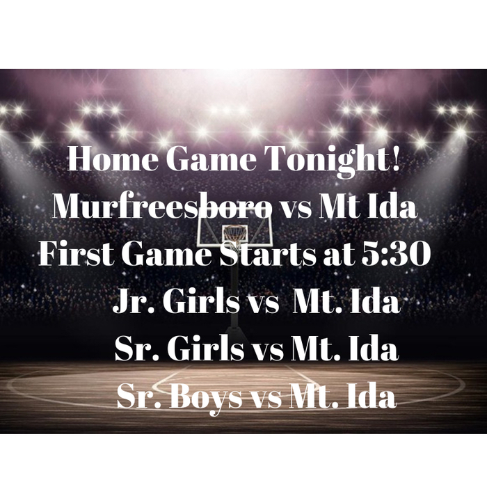 Come show your love and support to the Rattlers as they will play the Mt. Ida Lions tonight!