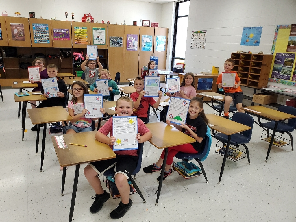 Students in MES Third grade turned some time to work on their language and handwriting skills into a special community project where they wrote letters to local soldiers thanking them for their service and sacrifice.